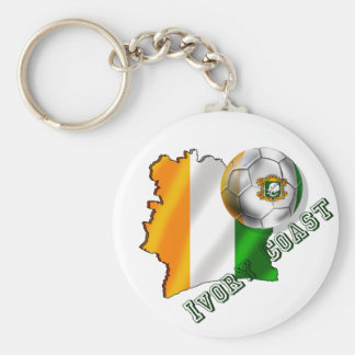 Map of the Ivory coast soccer lovers gifts Basic Round Button Keychain