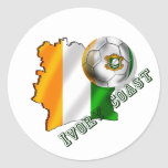 Map of the Ivory coast soccer lovers gifts Classic Round Sticker