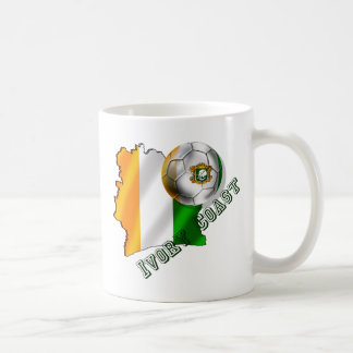 Map of the Ivory coast soccer lovers gifts Coffee Mug