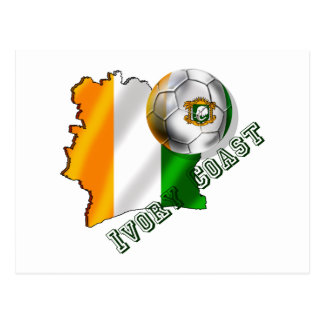 Map of the Ivory coast soccer lovers gifts Postcard