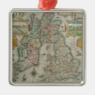 Map of the Kingdom of Great Britain and Ireland Metal Ornament