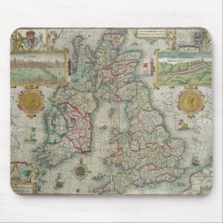 Map of the Kingdom of Great Britain and Ireland Mouse Pad