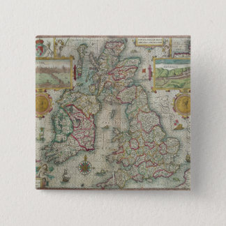 Map of the Kingdom of Great Britain and Ireland Pinback Button
