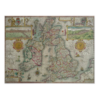 Map of the Kingdom of Great Britain and Ireland Poster