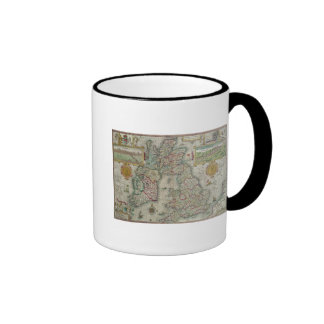 Map of the Kingdom of Great Britain and Ireland Ringer Coffee Mug