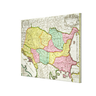 Map of the Kingdom of Hungary and the States which Canvas Print