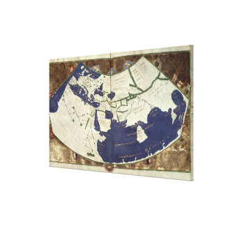 Map of the known world, from 'Geographia' Canvas Print