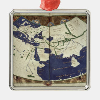 Map of the known world, from 'Geographia' Metal Ornament