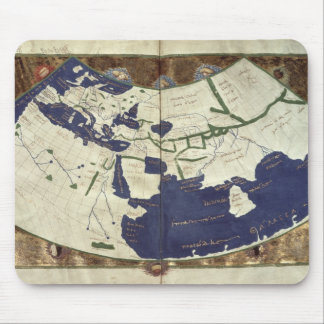 Map of the known world, from 'Geographia' Mouse Pad