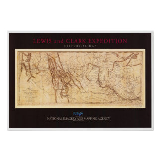 Map of the Lewis and Clark Expedition Posters
