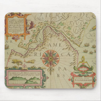 Map of the Magellan Straits, Patagonia, from the M Mousepad