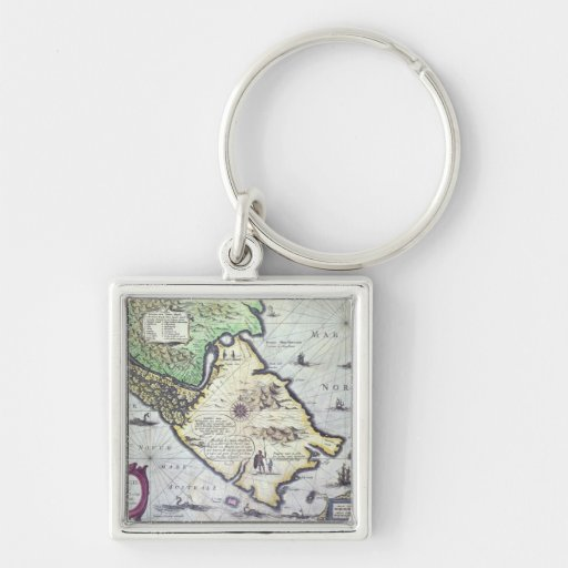 Map of the Magellan Straits, Patagonia Key Chain