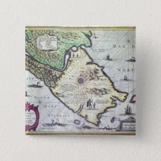 Map of the Magellan Straits, Patagonia Pinback Button