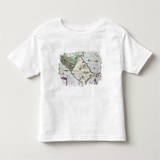 Map of the Magellan Straits, Patagonia Toddler T-shirt