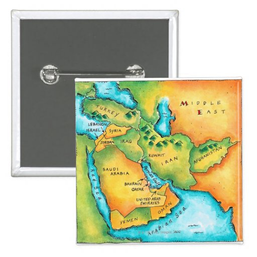 Map of the Middle East Button