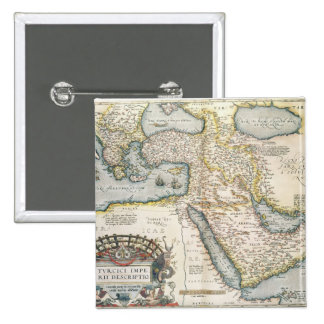 Map of the Middle East 2 Inch Square Button