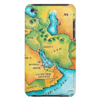 Map of the Middle East iPod Touch Case-Mate Case