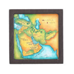 Map of the Middle East Jewelry Box