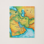 Map of the Middle East Jigsaw Puzzle