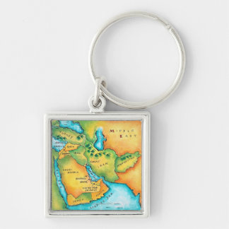 Map of the Middle East Keychains