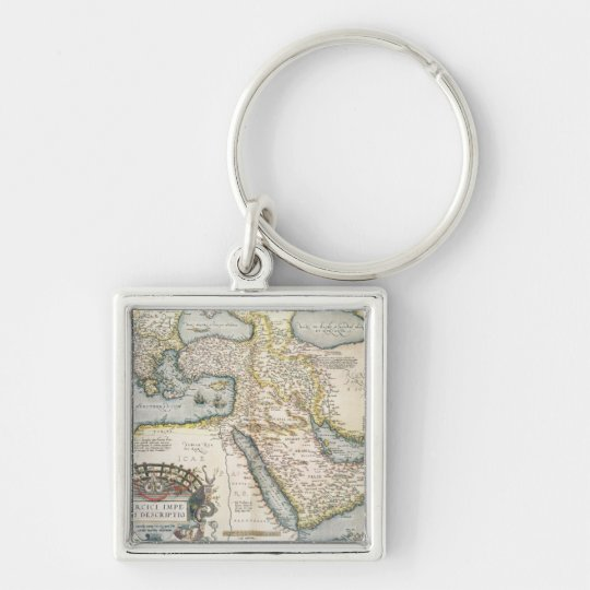 Map of the Middle East Keychain