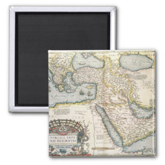 Map of the Middle East 2 Inch Square Magnet