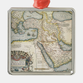 Map of the Middle East Metal Ornament