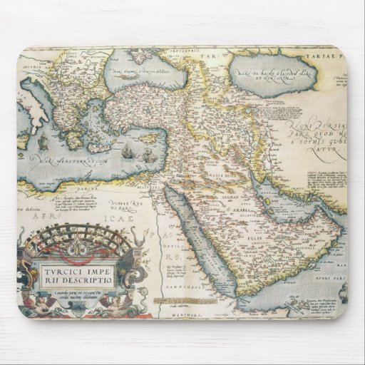 Map of the Middle East Mouse Pad