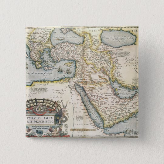 Map of the Middle East Pinback Button