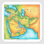 Map of the Middle East Stickers