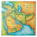 Map of the Middle East Tiles