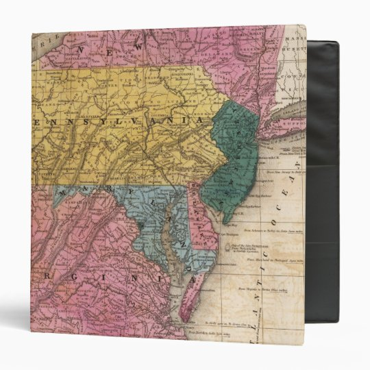 Map of the Middle States 3 Ring Binder