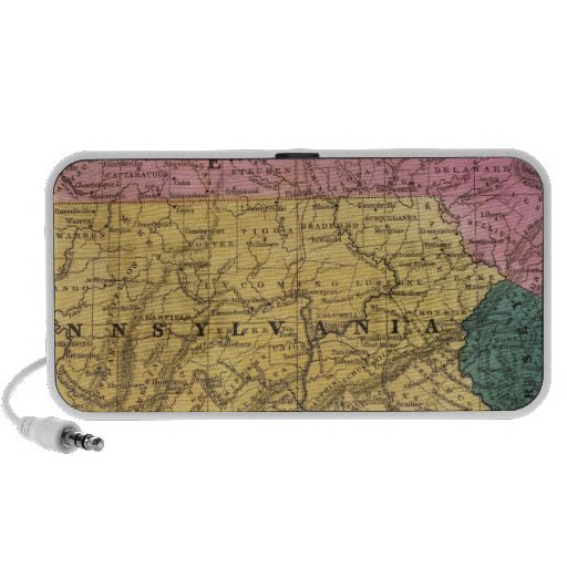 Map of the Middle States Portable Speaker