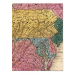 Map of the Middle States Post Card