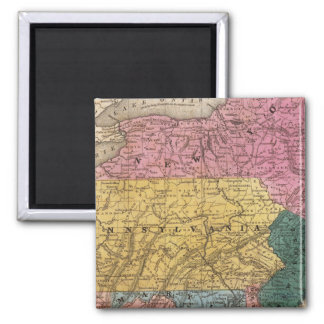 Map of the Middle States Refrigerator Magnet