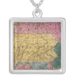 Map of the Middle States Square Pendant Necklace