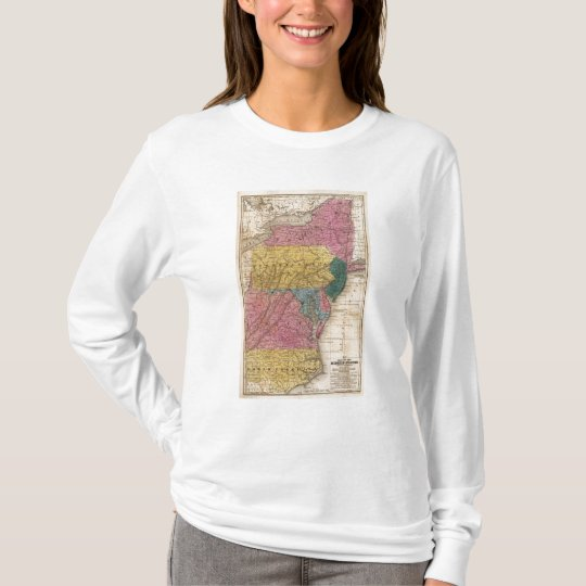 Map of the Middle States T-Shirt