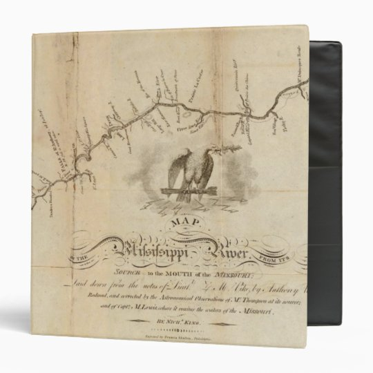 Map of the Mississippi River 3 Ring Binder