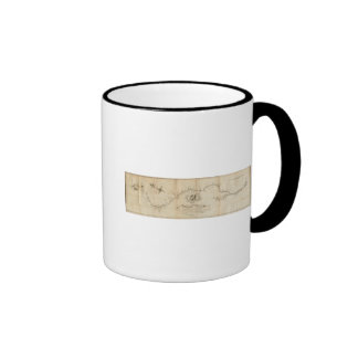 Map of the Mississippi River Ringer Coffee Mug