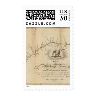 Map of the Mississippi River Postage