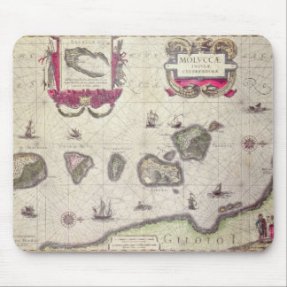 Map of The Moluccan Island, engraved Mouse Pads