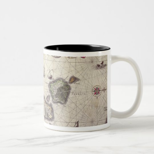 Map of The Moluccan Island, engraved Two-Tone Coffee Mug