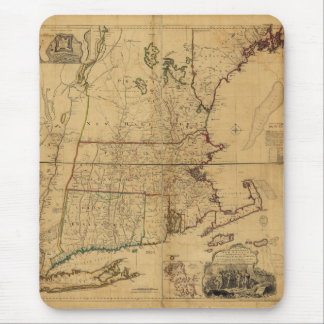 Map of the Most Inhabited Part of New England 1755 Mouse Pad