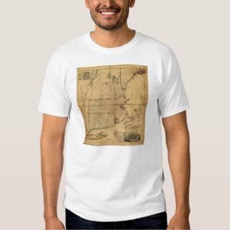 Map of the Most Inhabited Part of New England 1755 Shirt