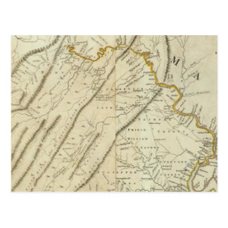Map of the most Inhabited part of Virginia, NJ. PA Postcard