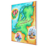 Map of the Netherlands Canvas Print