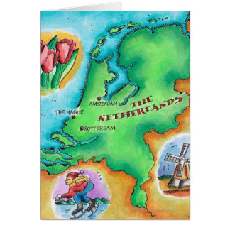 Map of the Netherlands Cards