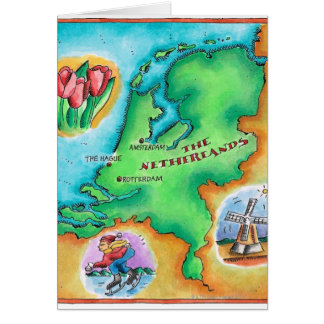 Map of the Netherlands Card