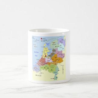 Map of The Netherlands Coffee Mug