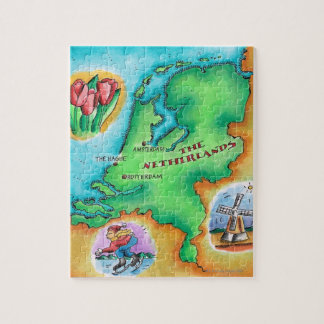 Map of the Netherlands Jigsaw Puzzle
